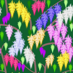 Wisteria Fractal Forest