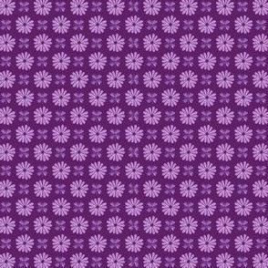 Purple Watercolour Flowers