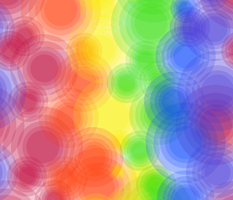 Rainbow Bubbles fabric by eraerica on Spoonflower - custom fabric