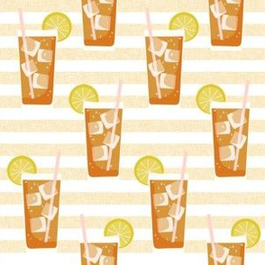 iced tea bbq summer party southern style fabric tan stripe