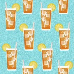 iced tea bbq summer party southern style fabric blue