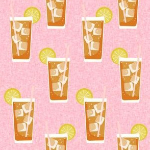 iced tea bbq summer party southern style fabric pink