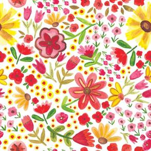 Summer Watercolor Flowers