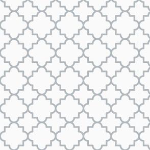 Quatrefoil lattice - Silver grey lines