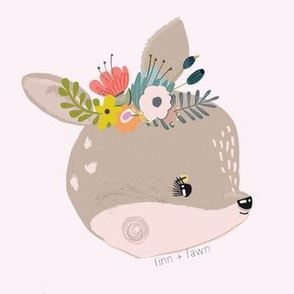 Fawn Face Blush Color Background
