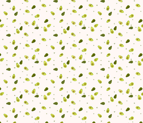 Avocado fabric by quiltkween on Spoonflower - custom fabric
