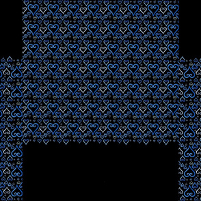 Blue Hearts - Diaper Panels