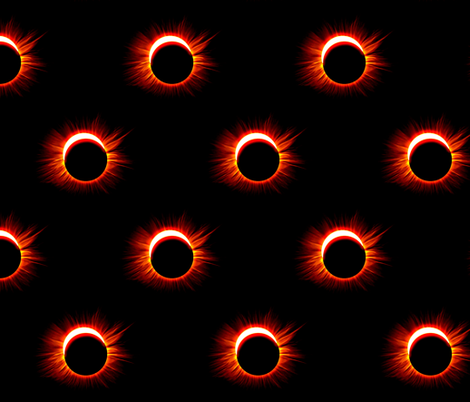 Solar Eclipse fabric by ampersand_designs on Spoonflower - custom fabric