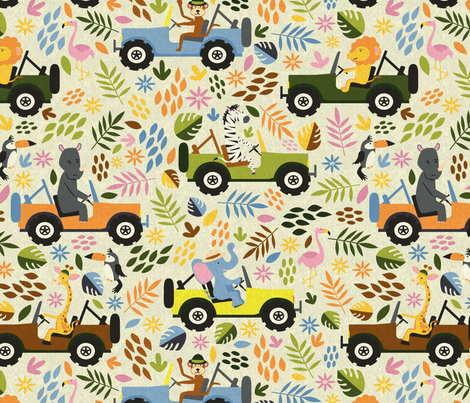 Animals on Safari fabric by diseminger on Spoonflower - custom fabric