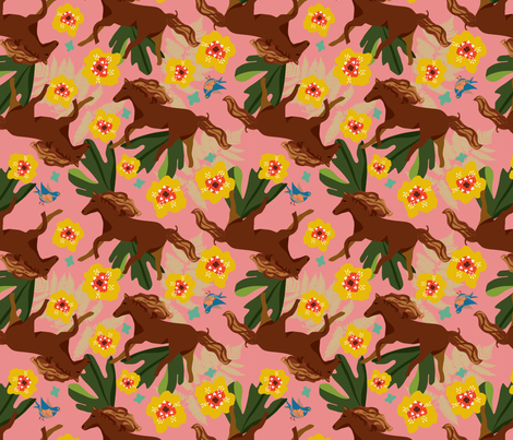 EG_HORSES fabric by elizabethgrubaugh on Spoonflower - custom fabric