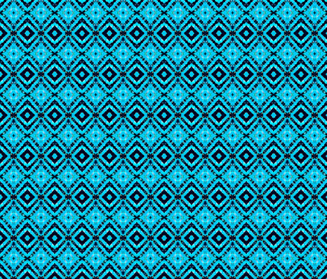 Black & Blue Vortex Diamonds fabric by just_meewowy_design on Spoonflower - custom fabric