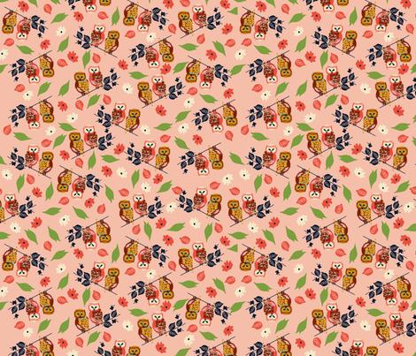 EG_OWLS_PINK fabric by elizabethgrubaugh on Spoonflower - custom fabric