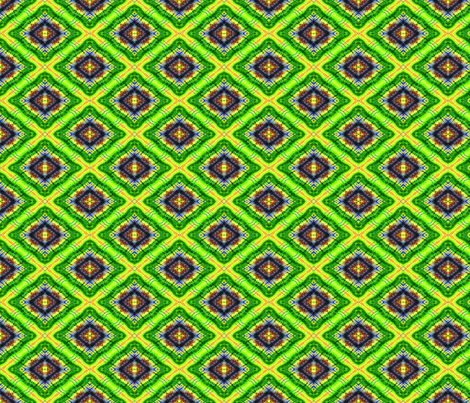 Radient Green Diamonds Eyes fabric by just_meewowy_design on Spoonflower - custom fabric