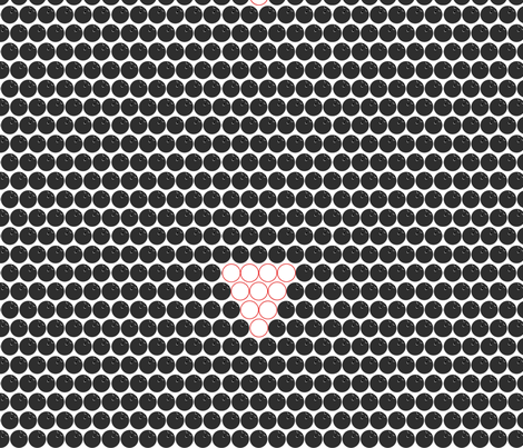 Bowling Triangles fabric by kae50 on Spoonflower - custom fabric