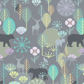 Katelyn's Forest, Grey, Small