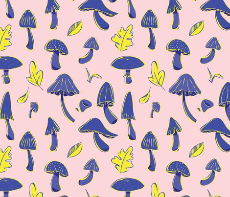 A Love for Mushrooms fabric by emily_van_art on Spoonflower - custom fabric