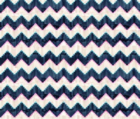 Festival mini chevron 1c fabric by schatzibrown on Spoonflower - custom fabric