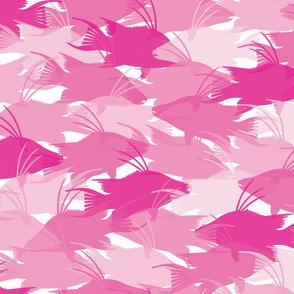 Pink Hogfish Camo Medium