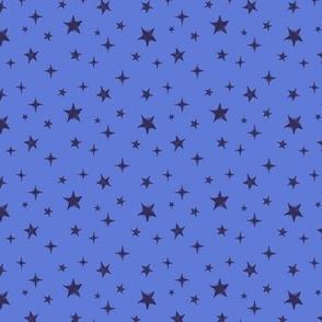 Stars - scattered - blue