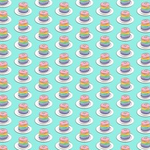 (micro scale) rainbow pancake stacks