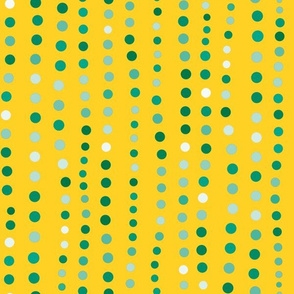 Dots in a Row Yellow Light Green