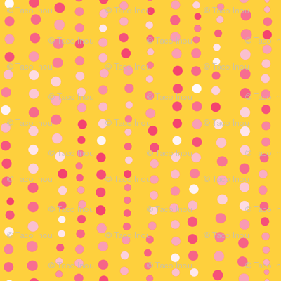 Dots in a Row Yellow Pink