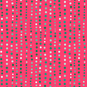 Dots in a Row Pink Light Green