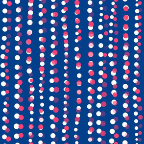 Dots in a Row Misaligned Royal Blue Pink
