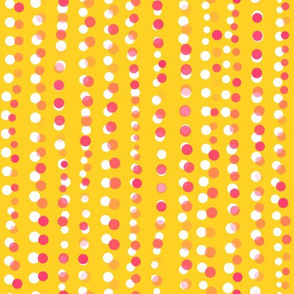 Dots in a Row Misaligned Yellow Pink