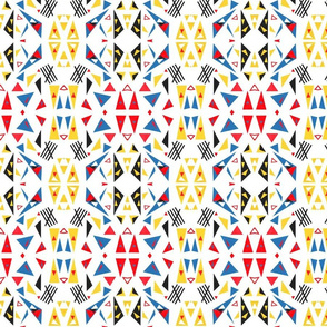 Triangles Paper Cut-outs Mirrored Repeat