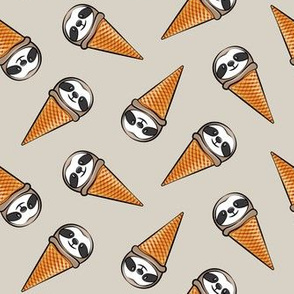 sloth icecream cones - toss on beige