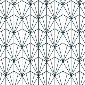 Geometric Hex navy and white