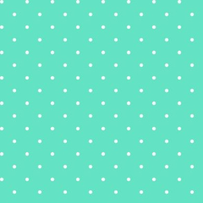 Spots small white on aquamarine