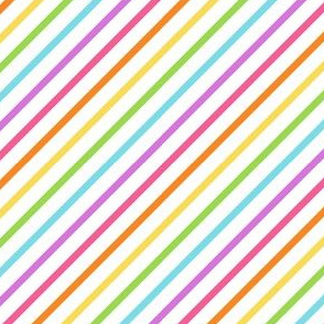 Stripes diagonal rainbow