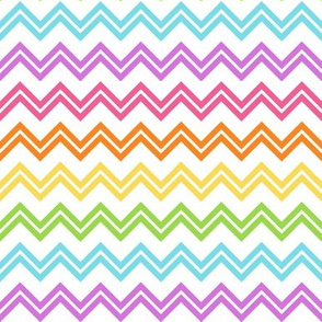 Chevron Rainbow on white