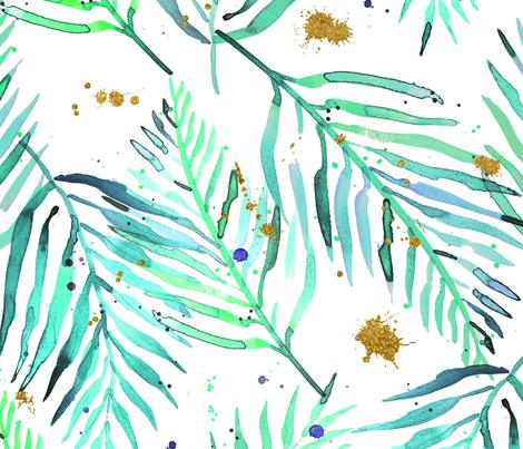 green geode tropical plants fabric by karismithdesigns on Spoonflower - custom fabric