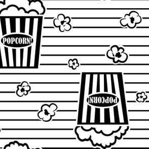 Movie Popcorn Stripe