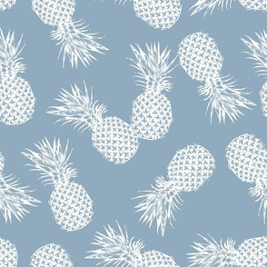 Pineapple Stamp Blue