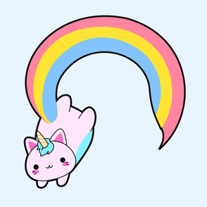 Kawaii proud rainbow cattycorn