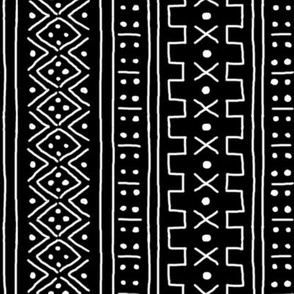 White on Black Mudcloth Inspired 2