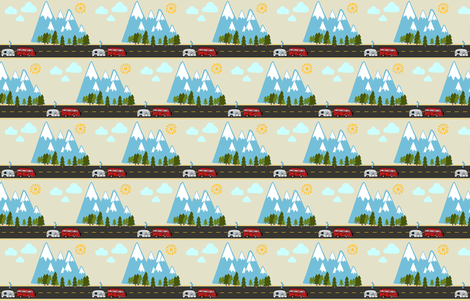 To The Mountains! fabric by kindlemade on Spoonflower - custom fabric