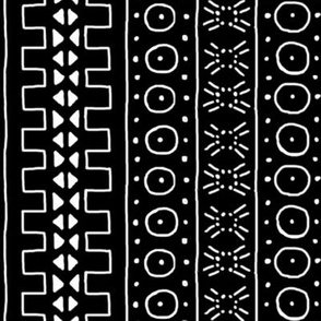 White on Black Mudcloth Inspired 3