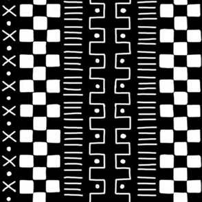 White on Black Mudcloth Inspired 4