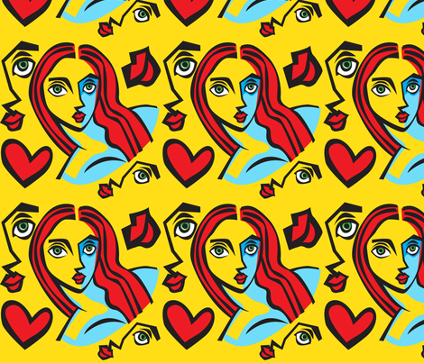 Red fabric by magdabowen on Spoonflower - custom fabric