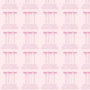 Sock Heel Turn-pink on pink