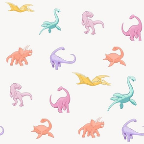 Dinosaurs are for Girls - Full Color, Smaller, No Background