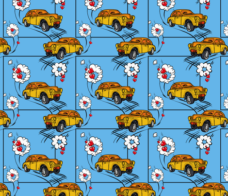 Four Wheels fabric by irishamamonovaart on Spoonflower - custom fabric