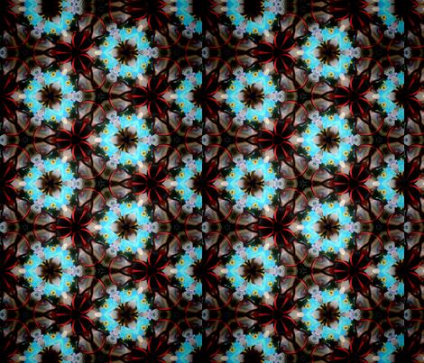 Circles triangles kaleidoscope  fabric by glendat on Spoonflower - custom fabric