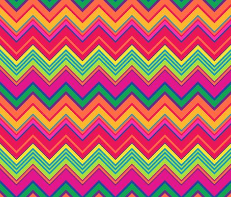 Happy Chevron Stripes fabric by elramsay on Spoonflower - custom fabric