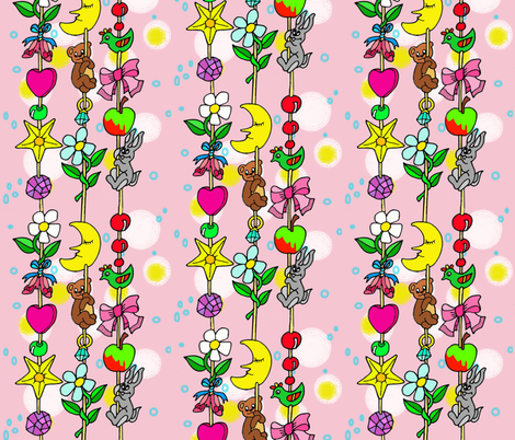 Baby Girl Princess Dreamcatcher fabric by palusalu on Spoonflower - custom fabric